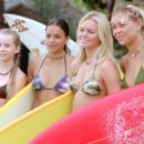 Mika Boorem, Michelle Rodriguez, Kate Bosworth and Sanoe Lake in Universal's Blue Crush - 2002