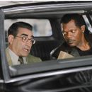 "(left to right) Eugene Levy as ""Andy Fiddler"" and Samuel L. Jackson as ""Derrick Vann"" in New Line Cinema's upcoming odd couple action comedy, THE MAN. ©2005 Ava Gerlitz/New Line Productions"