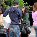 Jenna Dewan and Channing Tatum Christmas shopping at the Glendale Galleria December 23, 2010