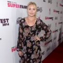 Actress Leah Pipes attends the Vevo CERTIFIED SuperFanFest presented by Honda Stage at Barkar Hangar on October 8, 2014 in Santa Monica, California
