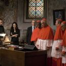 Exclusive Stills: L-r, Tom Hanks, Ayelet Zurer, Thure Lindhart, unidentified, Armin Mueller-Stahl, Rance Howard and unidentified, in Columbia Pictures' suspense thriller 'Angels & Demons.' Photo By:  Zade Rosenthal. © 2009 Columbia Pictures In - 454 x 303
