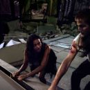 """(Left to right) Lily (Jessica Lucas) and Rob (Michael Stahl-David) have just rescued Beth (Odette Yustman) from a collapsed building in """"Cloverfield."""" Photo Credit: Courtesy of Paramount Pictures. © 2008 by Paramount Pictures. All Rights Reser"""