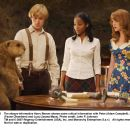 The always-informative Harry Beaver shares some critical information with Peter (Adam Campbell), Susan (Faune Chambers) and Lucy (Jayma Mays). Photo credit: John P. Johnson - 454 x 359