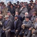 (L-r, front row) Bruce Boxleitner, Robert Duvall, Stephen Lang, Jeremy London, Bo Brinkman, (second row, r-l) Scott Cooper, Royce Applegate, John Castle, Patrick Gorman and Ted Turner in Ted Turner Pictures sweeping epic 'Gods and Generals,' - 454 x 303