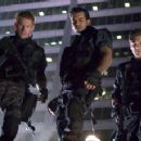 [From left to right] Zack Ward, Oded Fehr and Eric Mabius in a scene from Resident Evil: Apocalypse - 2004