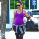 Stacy Keibler in Tights – Shopping at Bristol Farms in Beverly Hills - 454 x 681