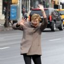 Annette Bening shoots a stunt scene where she pretends to get hit by a bus on the set of 'Life, Itself' in downtown Manhattan, New York on March 25, 2017 - 401 x 600