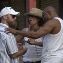 Writer/Director Craig Brewer, Producer Stephanie Allain, Producer John Singleton; Photo By: Alan Spearman. - 454 x 298