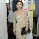 Kat Graham poses backstage at the Naeem Khan fashion show during Mercedes-Benz Fashion Week Spring 2015 at The Theatre at Lincoln Center on September 9, 2014 in New York City