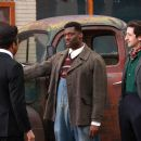 (L to R) Jeffrey Wright as 'Muddy Waters', Eamonn Walker as 'Howlin' Wolf' and Adrien Brody as 'Leonard Chess' in Sony BMG Film, Parkwood Pictures and Tristar Pictures' drama CADILLAC RECORDS. Photo credit: Eric Liebowitz. - 454 x 303