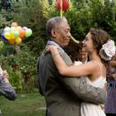 MORGAN FREEMAN stars as Harry Stevenson and ALEXA DAVALOS stars as Chloe in the romantic comedy FEAST OF LOVE, directed by Robert Benton,  distributed by Metro-Goldwyn-Mayer Distribution Co., A Division of Metro-Goldwyn-Mayer Studios Inc. Photo Credit: Pe