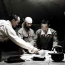 "(L-R) KEN WATANABE as General Kuribayashi, ODATE MASASHI as Cook, HIROSHI WATANABE as Lieutenant Fujita and TSUYOSHI IHARA as Baron Nishi in Warner Bros. Pictures' and DreamWorks Pictures' World War II drama ""Letters from Iwo Jima,&#8221 - 454 x 255"
