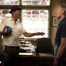 Morgan Freeman as Scrap and Clint Eastwood as Frankie in Warner Bros. Pictures' drama Million Dollar Baby. The Malpaso production also stars Hilary Swank. Merie W. Wallace
