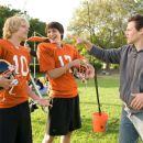 Eric Christian Olsen (left) and Nicholas D'Agosto (center) with Director Will Gluck on the set of Screen Gems' comedy FIRED UP. Photo credit: Suzanne Tenner. © 2009 Screen Gems, Inc.  All rights reserved.