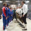 From left to right: PAUL SOTER as Jan Wolfhouse, JAY CHANDRASEKHAR as Barry, KEVIN HEFFERNAN as Landfill, STEVE LEMME as Fink, ERIK STOLHANSKE as Todd Wolfhouse, PHILIPPE BRENNINKMEYER as Herr Referee, ERIC CHRISTIAN OLSEN as Gunter, GUNTER SCHLIERKAMP as