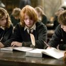 (L - r)Emma Watson as Hermione, Rupert Grint as Ron and Daniel Radcliffe as Harry in Warner Bros. Harry Potter and the Goblet of Fire - 2005