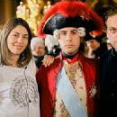 Director and writer Sofia Coppola (left) and Jason Schwartzman (center) on the set of Marie Antoinette - 2006