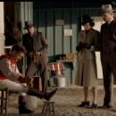Tobey Maguire, Chris Cooper, Elizabeth Banks and Jeff Bridges in Seabiscuit.