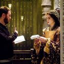 "Director DARREN ARONOFSKY discusses a scene with actress RACHEL WEISZ in Warner Bros. Pictures' and Regency Enterprises' sci-fi fantasy ""The Fountain."" Photo by Takashi Seida"