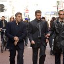 GEORGE CLOONEY, MATT DAMON and BRAD PITT star in 'Ocean's Twelve,' also starring Catherine Zeta-Jones, Andy Garcia, Don Cheadle, Bernie Mac and Julia Roberts and distributed by Warner Bros. Pictures.  Photo by Ralph Nelson SMPSP
