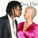 Amber Rose and Wiz Khalifa attend Pre-GRAMMY Gala and Salute to Industry Icons Honoring Debra Lee at The Beverly Hilton in Los Angeles, California - February 11, 2017 - 454 x 569