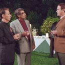 Harry Shearer as Victor Allan Miller, Eugene Levy as Morley Orfkin and Larry Miller as Syd Finkleman in director Christopher Guest's For Your Consideration.  Photo credit: Suzanne Tenner © 2006 Shangri-La Entertainment, LLC.