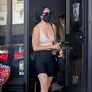 Rumer Willis – Out with her dog at 'Hair by Violet' in Beverly Hills