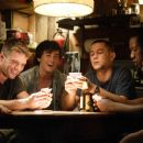 "(Left to right) Steve Shriver (Channing Tatum), Brandon King (Ryan Phillippe), Shorty (Alex Frost), Tommy Burgess (Joseph Gordon-Levitt) and Isaac Butler (Rob Brown) engage in some well-deserved r&r in ""Stop-Loss."" Photo Credit: Frank Masi. © - 454 x 303"