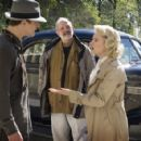 Josh Hartnett, Director Brian De Palma and Scarlett Johansson on the set of The Black Dahlia - 2006