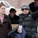 (Left to right.) Star Amy Adams with director Christine Jeffs on the set of Overture Films' Sunshine Cleaning. © 2009 Big Beach, LLC. All Rights Reserved. Distributed by Overture Films. Photo Credit: Lacey Terrell - 454 x 303