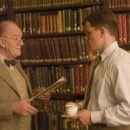 Michael Gambon as Dr. Fredericks and Matt Damon as Edward Wilson in The Good Shepherd - 2006