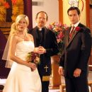 Tori Spelling as Alex, Dean Nolen as Reverend and James O'Shea as Ryan in Kiss the Bride. - 454 x 461