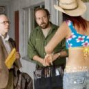 """(Left to right) BOB BALABAN as Harry Farber, PAUL GIAMATTI as Cleveland Heep and CINDY CHEUNG as Young-Soon Choi in Warner Bros. Pictures' and Legendary Pictures' """"Lady In The Water,"""" distributed by Warner Bros. Pictures. The film"""