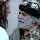 King Xerxes (Luke Goss) and Prince Memucan (Omar Sharif) in One Night with the King - 2006.