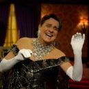 Gary Beach as flamboyantly untalented director Roger De Bris shows off his new gown in The Producers.