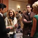 (L to R) Jeffrey Wright, Director Darnell Martin, Adrien Brody and Beyoncé Knowles on the set of Sony BMG Film, Parkwood Pictures and Tristar Pictures' drama CADILLAC RECORDS. Photo credit: Eric Liebowitz. © 2008 Sony BMG Film. All rights reserved.