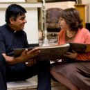 George Lopez as Father Salazar and Adriana Barraza as Esperanza in Overture Films' Henry Poole Is Here.