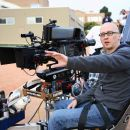 Director Greg Mottola (pictured) prepares for a shot on the set of Superbad. Photo Credit : Melissa Moseley. - 454 x 303