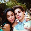 Jake T. Austin and Bianca A. Santos - 454 x 449