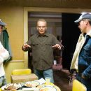 "(L-r) Director MICHAEL POLISH, BILLY BOB THORNTON as Charles Farmer and writer MARK POLISH on the set of Warner Bros. Pictures' family film ""The Astronaut Farmer."" Photo by Richard Foreman"