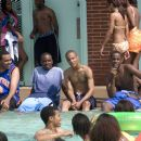 """The Southside Boys, left to right: Albert Daniels as Brooklyn, Jason Weaver as Teddy, Tip """"T.I."""" Harris as Rashad, and Jackie Long as 'Esquire' appear in Warner Bros. Pictures' music-driven coming of age story, ATL. Photo by Guy"""