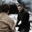 LIAM NEESON as Henri Ducard in Warner Bros. Pictures action adventure Batman Begins, starring Christian Bale.