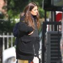 Lea Michele Filming Glee Set In La
