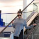 Lea Michele – Arrives at LAX Airport in Los Angeles