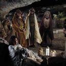 "(left to right) Ted Rusoff stars as the ""Old Shepherd"", Keisha Castle-Hughes as ""Mary"", Nadim Sawalha as ""Melchior"", Stefan Kalipha as ""Gaspar"", Eriq Ebouaney as ""Balthasar"" and Oscar Isaac as &# - 454 x 303"