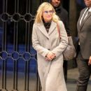 Kristen Bell in Long Coat Out in New York
