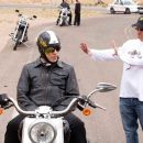Tim Allen and Director Walt Becker on the set of Wild Hogs. Photo Credit: Lorey Sebastian. © Touchstone Pictures. All Rights Reserved