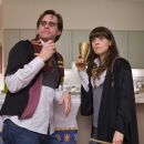 """(L-r) Carl (JIM CARREY) and Allison (ZOOEY DESCHANEL) attend a """"Harry Potter""""-themed party in Warner Bros. Pictures' and Village Roadshow's comedy """"Yes Man,"""" distributed by Warner Bros. Pictures. Photo by Melissa Mosele"""