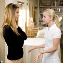 "Jennifer Aniston stars as Sarah with Mena Suvari as Annie in Warner Bros. Pictures' and Village Roadshow Pictures' romantic comedy ""Rumor Has It...,"" also starring Kevin Costner, Shirley MacLaine and Mark Ruffalo. Photo by Melissa"