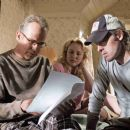 "(L-r) BILLY BOB THORNTON as Charles Farmer, VIRGINIA MADSEN as Audie Farmer and director MICHAEL POLISH on the set of Warner Bros. Pictures' family film ""The Astronaut Farmer."" Photo by Richard Foreman"